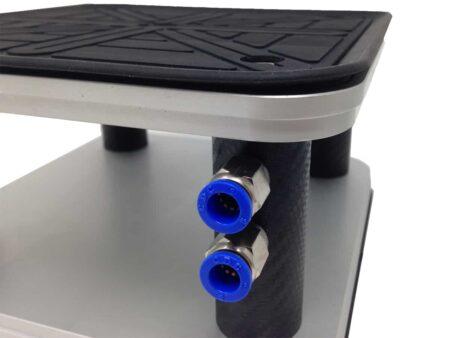 GNC - Ventosa quadrata 200x200 mm in Gomma EPDM con labbro (Sia piano superiore che inferiore)