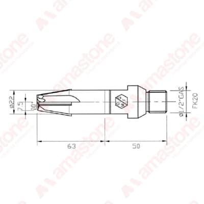 Disegno fesa per bassorilievi gambo corto 20x30 - Marmo