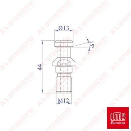 Codolo per coni portautensile ISO 30