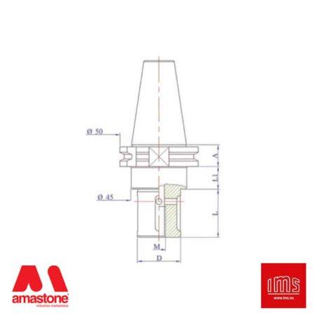 Cono portautensile ISO 30 per mole da profilo - DIN 69871/A - IMS