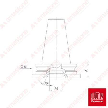 Cono portaforetto ISO 30
