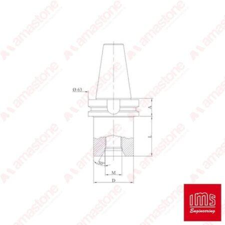Cono portaforetto ISO 40 BT