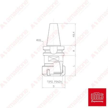 Cono portapinza ER – ISO 30 BT