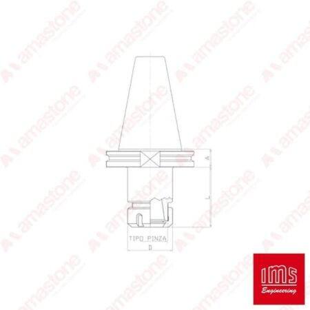 Cono portapinza ER ISO 50 - Brembana CMS
