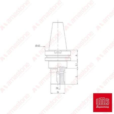 IMS – Cono portautensile ISO 40 per mole da profilo