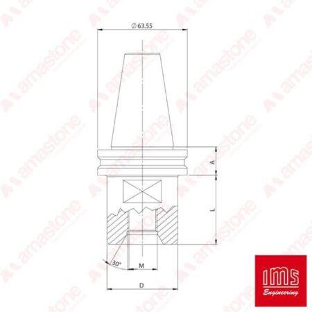 IMS - Cono portaforetto ISO 40