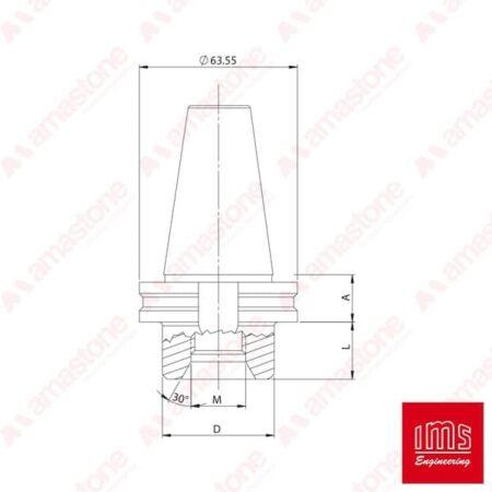 IMS - Cono portaforetto ISO 40 - Pedrini Cobalm e altro