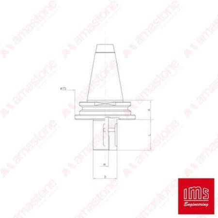 IMS - Cono portautensile ISO 40 per mole da profilo