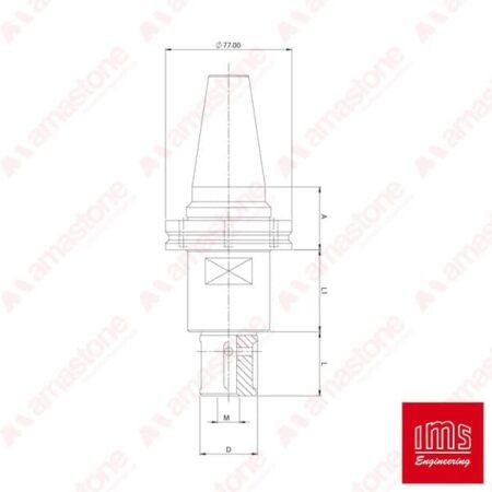 IMS - Cono portautensile ISO 40 per mole da profilo - Brembana Vecchio Tipo