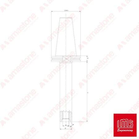 IMS - Cono portaforetto ISO 50 - Bidese 2T e altro