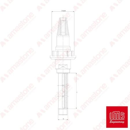 IMS - Cono portautensile ISO 40 per mole da ribasso - Prussiani Vecchio Tipo