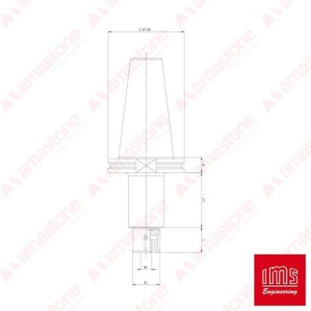 IMS - Cono portautensile ISO 50 per mole da profilo - Bidese 2T e altro
