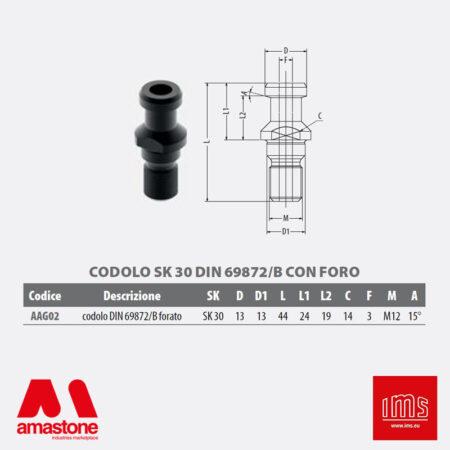 Aag02 - Codolo Per Coni Portautensili Iso 30