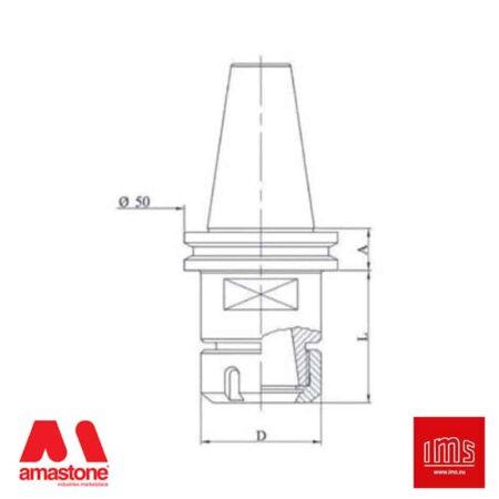 Cono portapinza ER - ISO 40 - Brembana CMS Nuovo Tipo - IMS