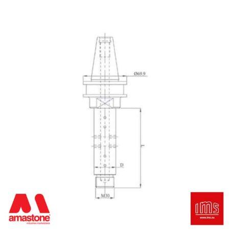 Cono portautensile ISO 40 per mole da profilo - Agut Prussiani Nuovo Tipo - IMS