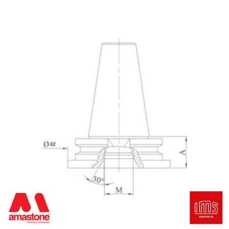Cono portautensile ISO 30 attacco 1/2 Gas - Intermac, Bimatech - IMS