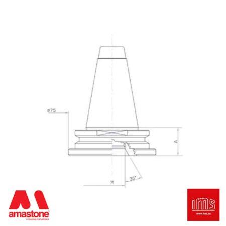 Cono portautensile ISO 40 attacco 1/2 Gas - Busetti - IMS