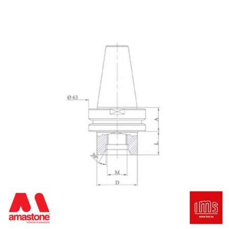 Cono portautensile ISO 40 attacco 1/2 Gas - Lovati - IMS