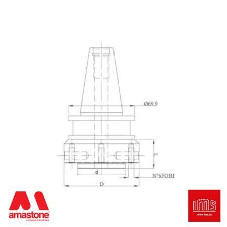 Cono portautensile ISO 40 per mole da ribasso - Agut Prussiani Nuovo Tipo - IMS