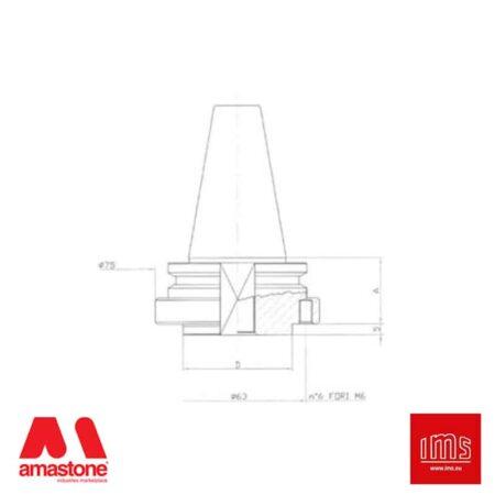 Cono portautensile ISO 40 per mole da ribasso - Intermac, Bimatech e altri - IMS