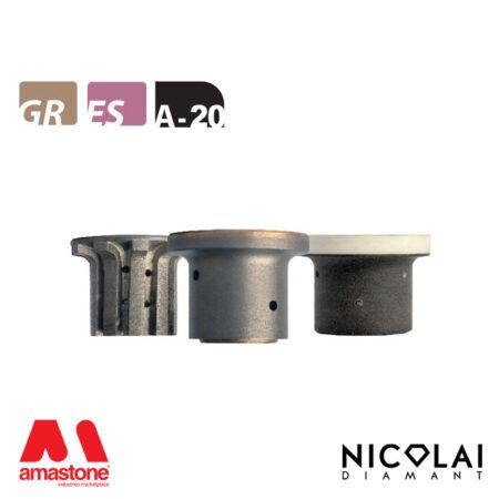 Mola da profilo 40 - Forma A20 R5 - Nicolai