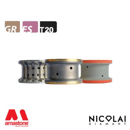 Mola da profilo 40 - Forma T20 R3 - Nicolai