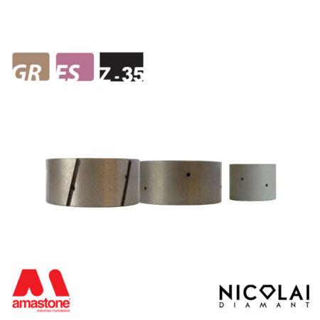 Mola da profilo XL Ø80 mm - Forma Z35 - Nicolai