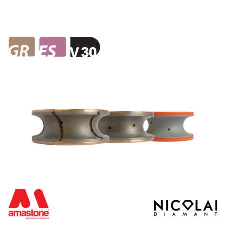 Mola da profilo XL - Forma V30 R15 - Nicolai