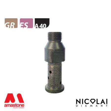 Mola da profilo 20 – Forma A40 R6 (Faccia sopra) - Nicolai
