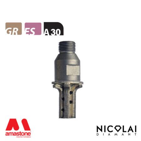 Mola da profilo 20 – Forma A30 R6 (Faccia sopra) - Nicolai