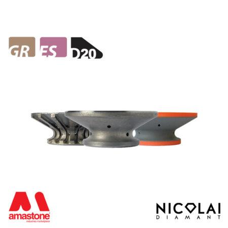 Mola da profilo 60 - Forma D20 - Nicolai