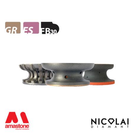 Mola da profilo 60 forma FB30 - Nicolai