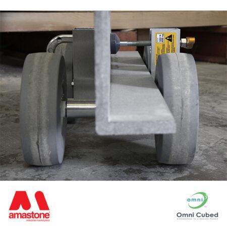 carrellino porta lastre pro dolly hd2 con maniglia - omni cubed