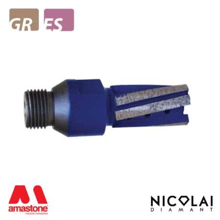 Fresa a candela Blue Twin - Granito, Agglomerato di quarzo - Nicolai