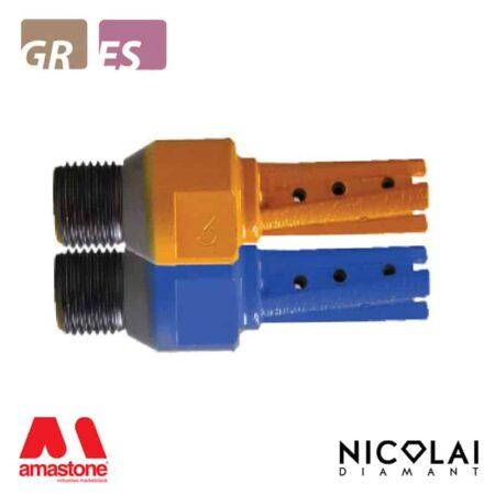 Fresa a candela Diametro 18mm - Granito, Agglomerato di quarzo - Nicolai