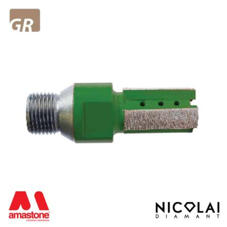 Fresa a candela XXX Green - Granito - Nicolai