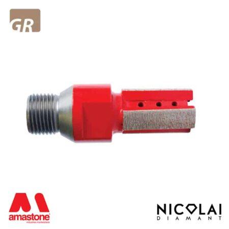 Fresa a candela XXX Red - Granito - Nicolai