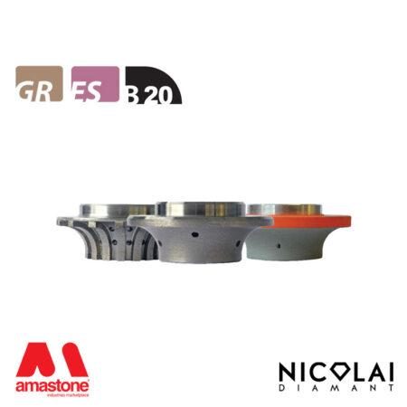 Mola da profilo 60 - Forma B20 - Nicolai