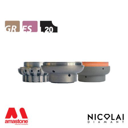 Mola da profilo 60 - Forma L20 - Nicolai