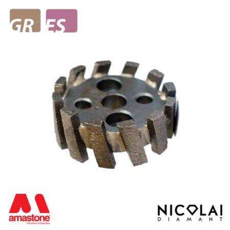 Mola da ribasso corona a settori - Granito, Agglomerato di quarzo - Nicolai