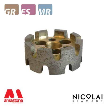 Mola da ribasso per asportazioni pesanti su Granito - TURBO - Nicolai