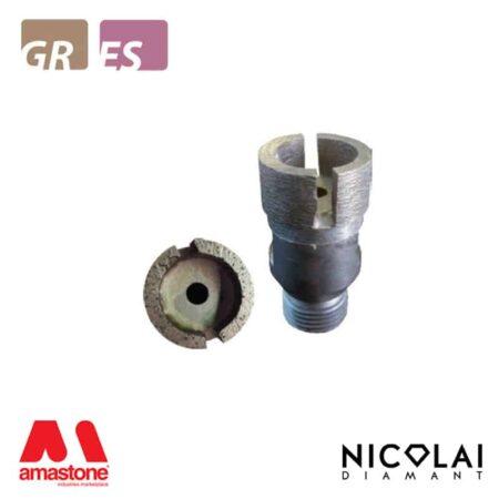 Testina sinterizzata per tagli incrementali - Granito, Agglomerato di quarzo - Nicolai