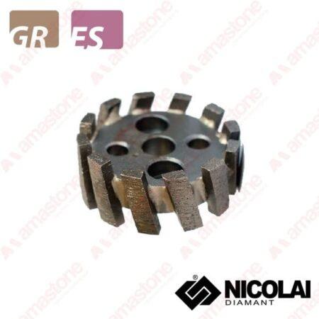 Nicolai – Mola da ribasso a settori diametro piccolo – Granito, Agglomerato