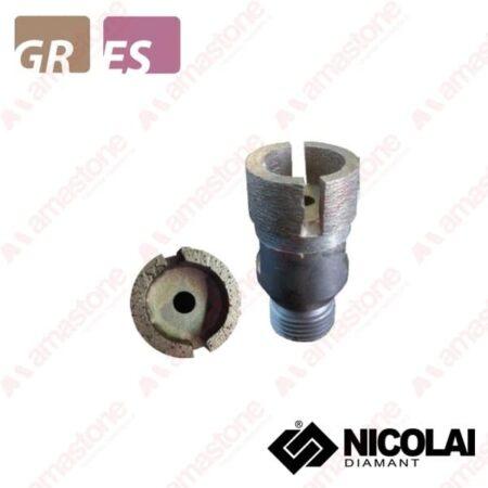 Nicolai – Testina Sinterizzata per tagli incrementali Ø30 mm – Granito, Agglomerato