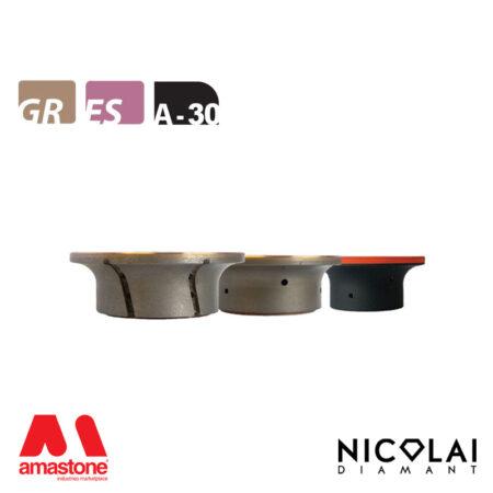 Mola da profilo XL - Forma A30 R15 - Nicolai
