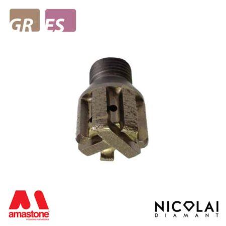 Mola da ribasso a settori 1/2 Gas - Granito, Agglomerato di quarzo - Nicolai