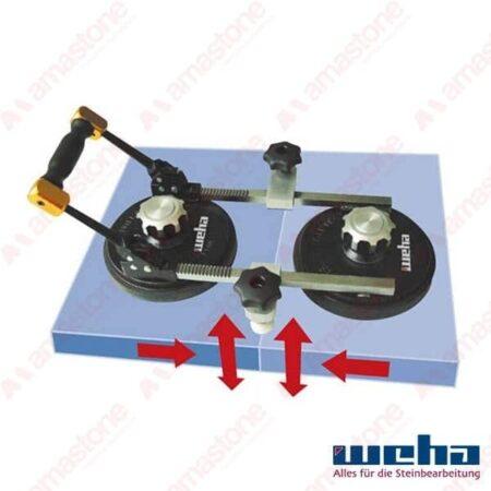 Weha – Ventosa manuale di allineamento 2xØ200 mm – 80 Kg