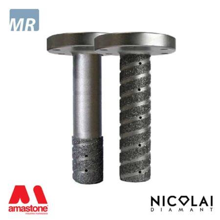Fresa a candela elettrodeposta - Attacco flangia - Marmo - Nicolai