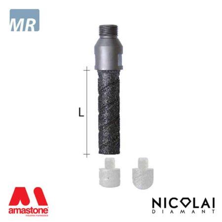 Fresa a candela elettrodeposta filettata per testa intercambiabile - Marmo - Nicolai