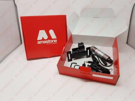 Laser segnataglio Verde 30mW modello mini dentro scatolo di spedizione Amastone